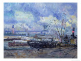 The Port of Rouen Giclee Print by Albert-Charles Lebourg