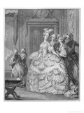 The Queen's Lady-In-Waiting Giclee Print by Jean-Michel Moreau the Younger