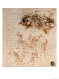 Study for the Battle of Anghiari, 1504-5 Giclee Print by Leonardo da Vinci