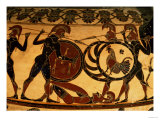Detail of a Corinthian Vase Showing a Hoplite Battle, circa 600 BC Giclee Print