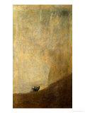 Der Hund, 1820-23 Giclée-Druck von Francisco de Goya