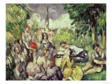 The Picnic, circa 1873-78 Giclee Print by Paul Cézanne