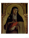 St. Clare, Detail from the Santa Lucia Triptych Giclee Print by Carlo Crivelli
