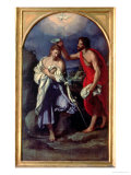 The Baptism of Christ Reproduction procédé giclée par Alessandro Allori