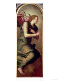 The Archangel Gabriel, Left Hand Panel of an Annunciation, 1555 Giclee Print by Agnolo Bronzino