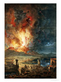 The Great Eruption of Mt. Vesuvius Premium Giclee Print by Louis Jean Desprez