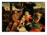 Rest on the Flight into Egypt Giclee Print by Bonifacio Veronese