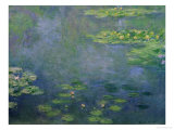 Les Nymphéas Reproduction procédé giclée par Claude Monet