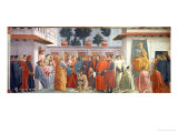 The Raising of the Son of Theophilus, the King of Antioch, and St. Peter Enthroned Giclee Print by T. & Lippi Masaccio