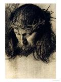 Head of Christ, circa 1890 Giclée-tryk af Franz von Stuck