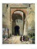 The Gate of Justice, Entrance to the Alhambra, Granada, 1853 Reproduction procédé giclée par Leon Auguste Asselineau