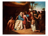 Jacob Refusing to Release Benjamin, 1829 Giclee Print by Adolphe Roger