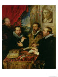 The Four Philosophers, the Artist, His Brother Philip, Justus Lipsius and Jan Van Der Wouwere Giclee Print by Peter Paul Rubens