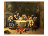 Modern Midnight Conversation Giclee Print by William Hogarth