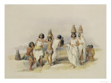 "Nubian Women at Kortie on the Nile, from ""Egypt and Nubia,"" Vol.1 Giclee Print by David Roberts"