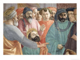 The Raising of the Son of Theophilus, King of Antioch, circa 1427 (Detail) Giclee Print by Tommaso Masaccio