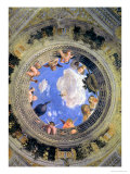 Trompe L'Oeil Oculus in the Centre of the Vaulted Ceiling of the Camera Picta or Camera Degli Sposi Premium Giclee Print by Andrea Mantegna