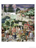 The Journey of the Magi to Bethlehem, the Left Hand Wall of the Chapel, circa 1460 Giclee Print by Benozzo di Lese di Sandro Gozzoli