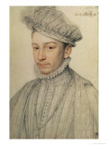 Portrait of King Charles IX of France, 1566 Reproduction proc&#233;d&#233; gicl&#233;e par Francois Clouet