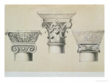 Byzantine Capitals from Columns in the Nave of the Church of St. Demetrius in Thessalonica Giclee Print by Charles Felix Marie Texier