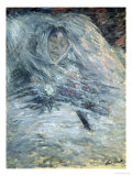 Camille Monet on Her Deathbed, 1879 Giclee Print by Claude Monet