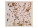 "Study for the ""Entombment"" in the Galleria Borghese, Rome Giclee Print by  Raphael"