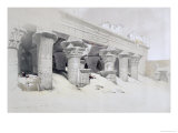 "Portico of the Temple of Edfu, Upper Egypt, from ""Egypt and Nubia,"" Vol.1 Giclee Print by David Roberts"