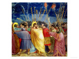 The Betrayal of Christ, circa 1305 Giclee Print by  Giotto di Bondone