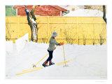 The Skier, c. 1909 Lámina giclée por Carl Larsson