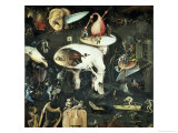 """The Garden of Earthly Delights: Hell, Right Wing of Triptych, Detail of """"Tree Man,"""" c. 1500 Giclée-Druck von Hieronymus Bosch"""