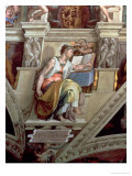 Sistine Chapel Ceiling: Eritrean Sibyl, 1510 Giclee Print by  Michelangelo Buonarroti