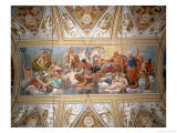 The Gods on Olympus, Ceiling Painting Gicl&#233;e-Druck von Antonio Maria Viani