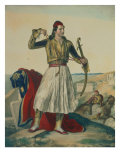 Demetrius Mavromichalis, a Greek Soldier and Patriot, 1825 Giclee Print by Louis Dupr&#233;