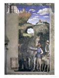 Horse and Groom with Hunting Dogs, from the Camera Degli Sposi or Camera Picta, 1465-74 (Detail) Giclee Print by Andrea Mantegna