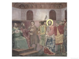 Christ Before Caiaphas, circa 1305 Giclee Print by  Giotto di Bondone