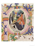 Historiated Initial &quot;P&quot; Depicting the Assassination of St. Peter the Martyr Reproduction proc&#233;d&#233; gicl&#233;e par Angelico &amp; Strozzi 