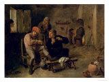 Tavern Scene, or the Village Fiddler, 1634-8 Giclee Print by Adriaen Brouwer