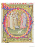 Historiated Initial &quot;O&quot; Depicting Tobias and the Angel Giclee Print by Bartolomeo Di Frusino 