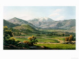 "Mount Olympus, as Seen Between Larissa and Baba, Plate 22 from Part 4 of ""Views in Greece"" Giclee Print by Edward Dodwell"