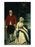 Portrait of John Julius Angerstein and His Second Wife Eliza, circa 1792 Giclée-tryk af Thomas Lawrence