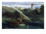 Polyphemus Attacking Sailors in Their Boat, 1855 Giclee Print by Alexandre Gabriel Decamps