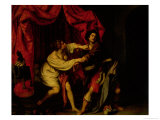 Joseph and Potiphar&#39;s Wife Giclee Print by Giovanni Biliverti