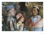 Marchese Ludovico Gonzaga III of Mantua Greeting His Son Cardinal Francesco Gonzaga Giclee Print by Andrea Mantegna