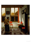 A Dutch Interior, 1665-70 Giclee Print by Pieter Janssens