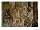 Choral Scene, from the Life of St. Benedict (Detail) Giclee Print by L. & Sodoma Signorelli