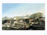 "The West Front of the Parthenon, Plate 19 from Part 4 of ""Views in Greece"" Premium Giclee Print by Edward Dodwell"