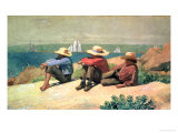 A la plage, 1875 Reproduction procédé giclée par Winslow Homer