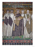 Justinian I and His Retinue, Detail of the Emperor, circa 547 AD Giclee Print
