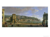 The Riviera of Chiaia at Naples Giclée-Druck von Vanvitelli (Gaspar van Wittel)