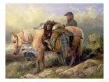 Returning from the Hill, 1868 Giclee Print by Richard Ansdell